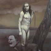 "Emanation (hermaphrodite portrait #2) oil on canvas.  60"" x 48"" 2010"