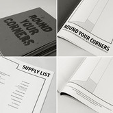 "Round Your Corners (Instruction Book), 2012 Height: 8.5"" Hand Bound Zine"
