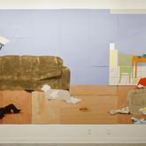 Title: Thin Walls: Sudden Silence Medium: Acrylic, wood panel Size: 8' x 14'