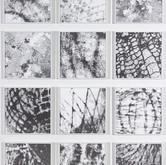 """Footprints 4' 6"""" x 3' 4"""" Ink 2009-2011 Detail"""