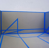 """Bend at the Corner (Installation Model), 2009 Height: 7"""" Glass, House Paint on Wood"""