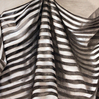 """Beginning Drawing, Project: Fabric Study on Tonal Paper   Charcoal, Graphite, White Charcoal 18' x 24"""""""