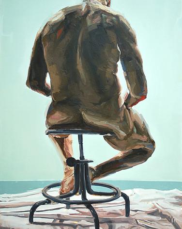 Paideia 2009 oil on canvas 84 x 60 inche