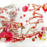 "Mr. Skinny Watercolors on paper 34"" x 38"