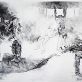 """A Futile Attempt, graphite, 22.5 x 30"""""""