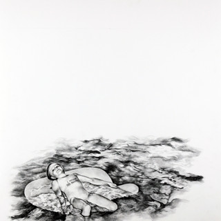 """Advanced Drawing, Project: Conceptual Self Medium: graphite on BFK Rives paper Size: 30"""" x 22"""""""