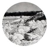 "Saginaw Ice, graphite on paper, 9""x9"", 2009"