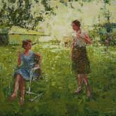 "late summer, oil on panel, 9"" x 12"", 2010"