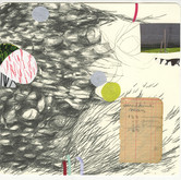 "imaginary story–seven Mixed Media, Graphite with Collage on Paper 10"" x 10.5"" 2009"