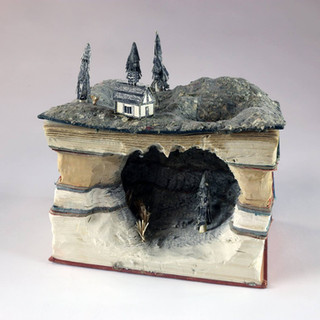 """3D Design, Project: Book Transformation  Found Books, One Type of Adhesive 6"""" x 9"""" x 5"""""""