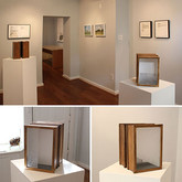 Discrete Entrance (Exhibition Installation), 2011 Variable Heights Glass, House Paint on Wood