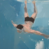 "Deep Dive, 16x16"", Oil on Canvas, 2010"
