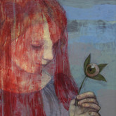The Red Veil oil, encaustic on panel 2010