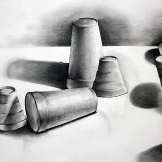 """Beginning Drawing, Project: Edge Without Contour Line  Graphite 18"""" x 24"""""""