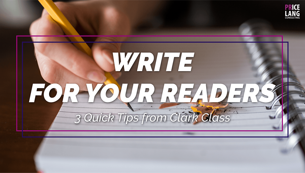 Write for your readers