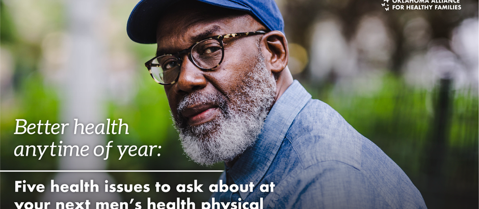 Better health anytime of year: Five health issues to ask about at your next men's health physical