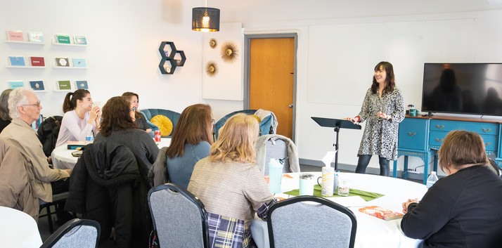 View of speaker during a workshop