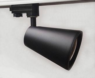 трековый светильник, трековый светильник светодиодный черный