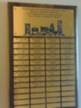 MHAPCI Board Service Plaque December 201