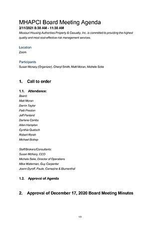 1MHAPCI Board Meeting Agenda - 2_11_21_P