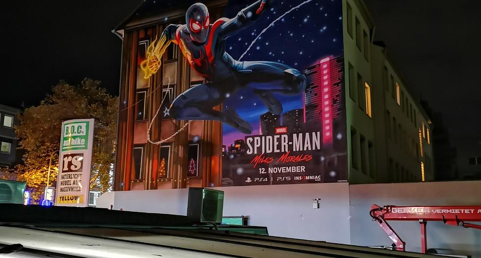 Spidermanmural in Köln für Playstation und Marvel