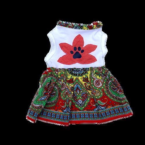 Mandala Dress - Red Trim
