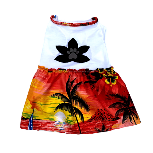 Surfer Lily Tee Dress - Palm - M/L