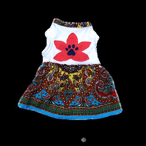 Mandala Dress - Red Flower