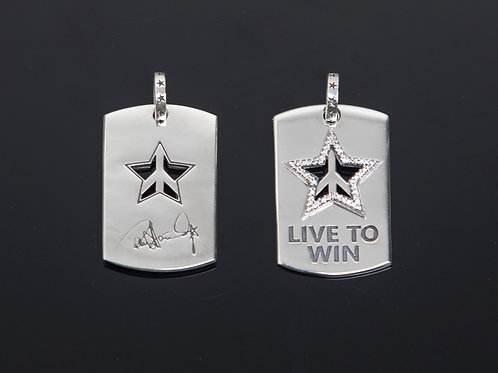 Live To Win Dog Tags