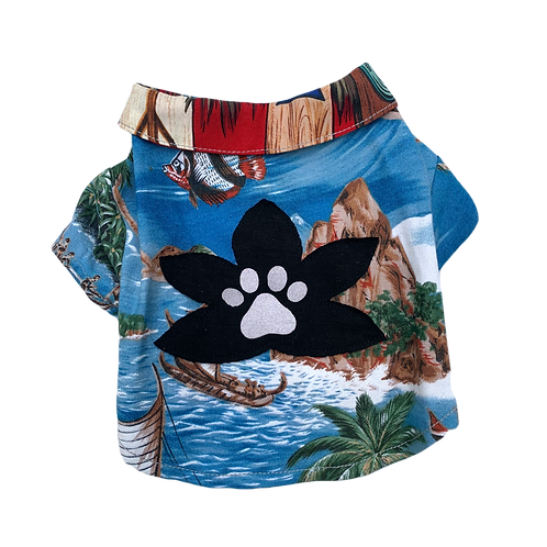 Surfer Lily Shirt - Red Collar
