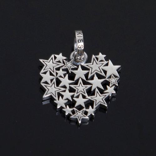 Starsburst Heart Pendant