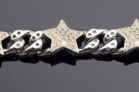 Star Link Bracelet with 3 Pave Cubic Zirconia starts at