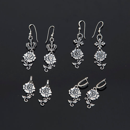 Solid Rose Earrings Collection