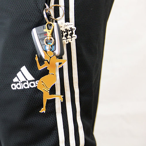 A Pointer Sister Keychain Charm