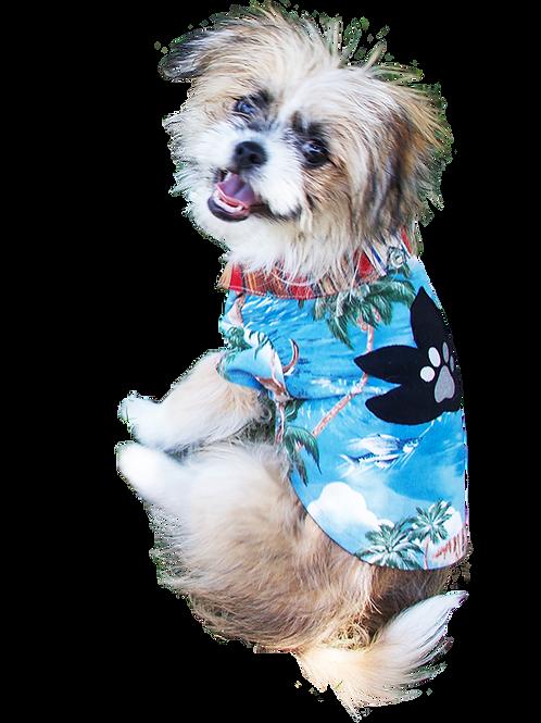 Surfer Lily Shirt - Black Flower