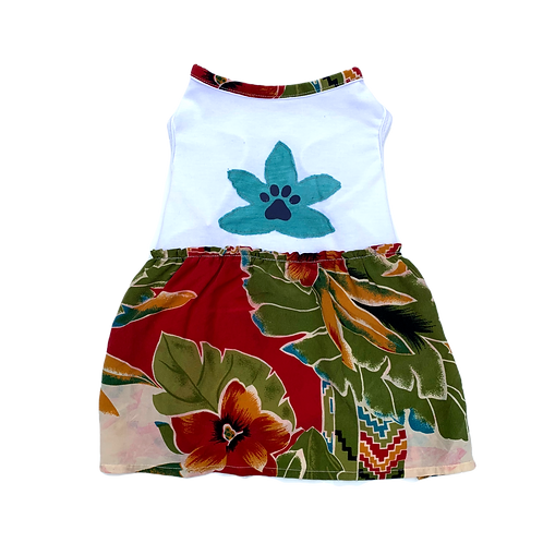 Surfer Lily Tee Dress - RED PALM