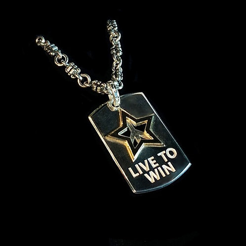 Live To Win Dog Tags starts at