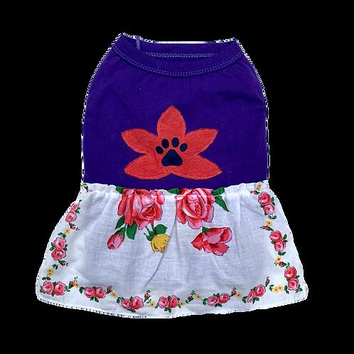 Tea Party Tee Dress - Red Flower
