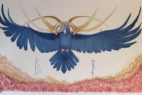 Odin Raven - Original - Unframed