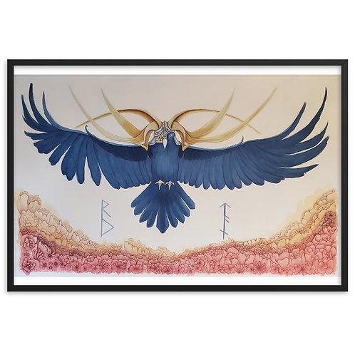 The Odin Raven: Framed Matte Paper Poster