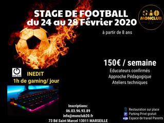 Stage de Football Vacances de Février Marseille
