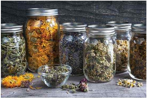 Organic dried herbs by the ounce