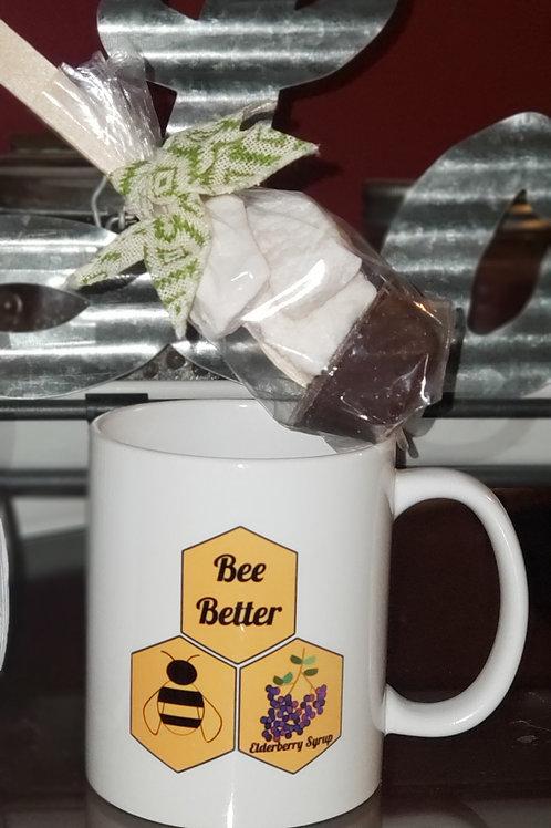 Hot Chocolate Spoon w/Elderberry Marshmallow