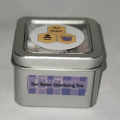 Elderflower tea bag tin