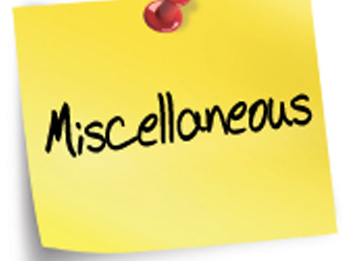 Miscellaneous products and services