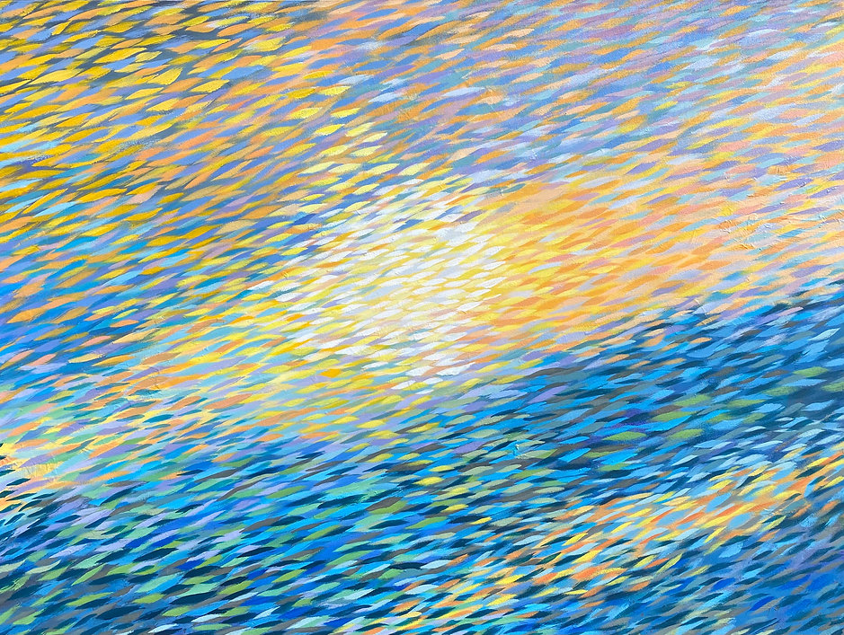 Yates, Golden Shoal, 36 x 48 in. a on c.