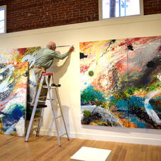 "Installation of ""Navigations (Comet Chasing)"" by Les Schnick"