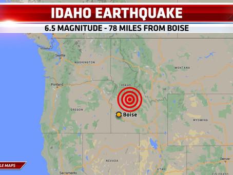 6.5 Magnitude Earthquake Rattles Idaho