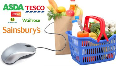 The most purchased grocery items by the online shopper
