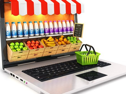 How do search result rankings influence the online grocery shopper?